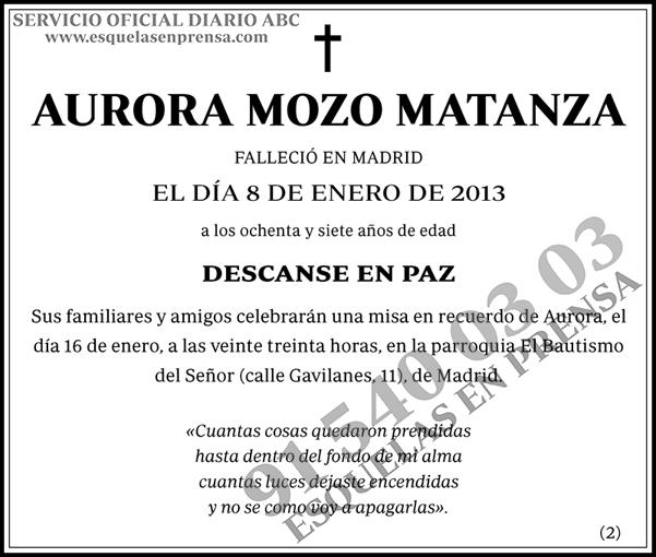Aurora Mozo Matanza